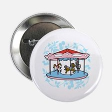 "Carousel Pink and Blue 2.25"" Button"