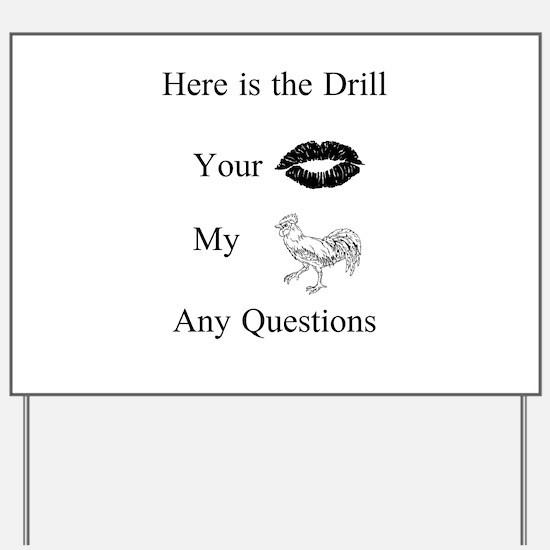 Cute Drill team Yard Sign