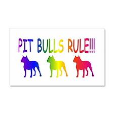 Pit Bull Car Magnet 20 x 12