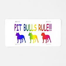 Pit Bull Aluminum License Plate