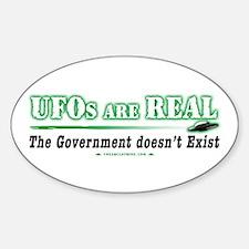 Cute Ufo disclosure Sticker (Oval)