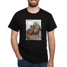 Wild West Stagecoach Under Attack T-Shirt