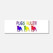 Pug Car Magnet 10 x 3