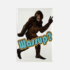 Bigfoot Sasquatch Yetti Wassup Rectangle Magnet