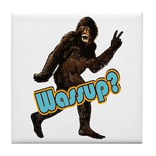 Bigfoot Sasquatch Yetti Wassup Tile Coaster