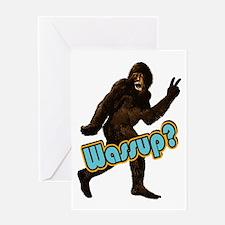 Bigfoot Sasquatch Yetti Wassup Greeting Card