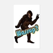 Bigfoot Sasquatch Yetti Wassup Sticker (Rectangle)