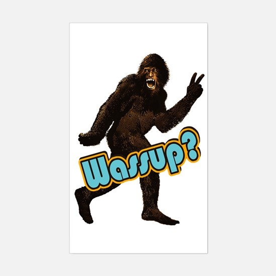 Bigfoot Sasquatch Yetti Wassup Sticker (Rectangle)