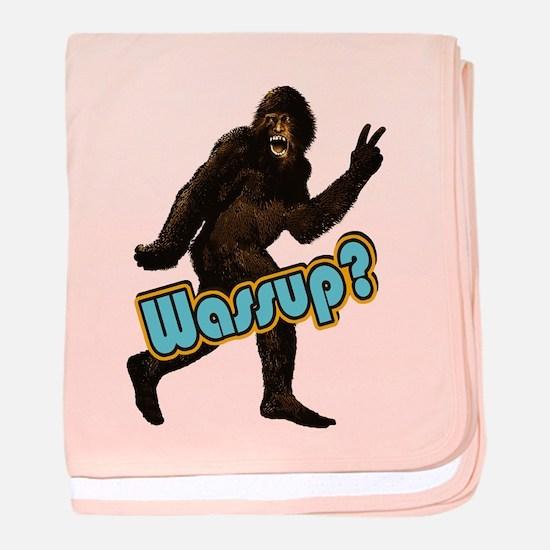 Bigfoot Sasquatch Yetti Wassup baby blanket