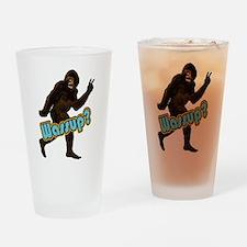 Bigfoot Sasquatch Yetti Wassup Drinking Glass
