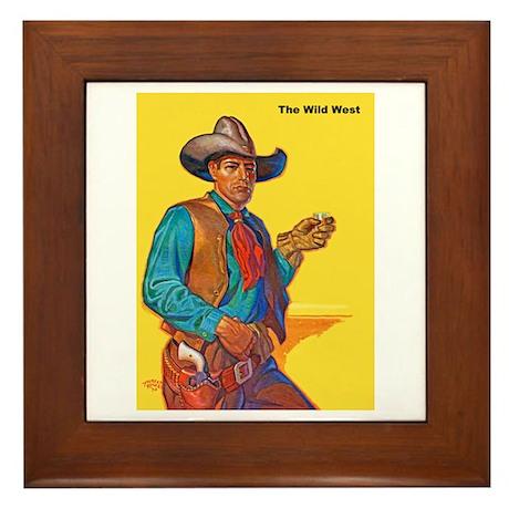 Wild West Cowboy Framed Tile