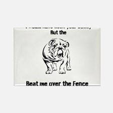 Unique Bulldog sayings Rectangle Magnet