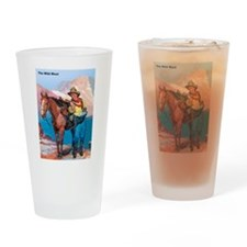 Wild West Gold Rush Prospector Drinking Glass