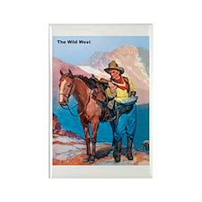 Wild West Gold Rush Prospector Rectangle Magnet