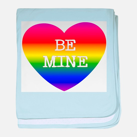 BE MINE baby blanket