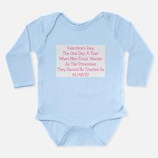 Valentine's Princess Long Sleeve Infant Bodysuit