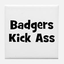 Badgers Kick Ass Tile Coaster
