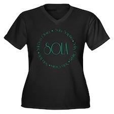 5 Solas Women's Plus Size V-Neck Dark T-Shirt