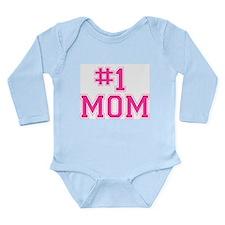 #1 MOM Long Sleeve Infant Bodysuit