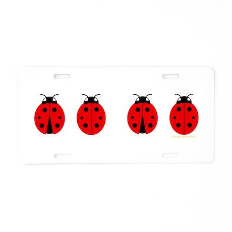 Ladybugs Aluminum License Plate