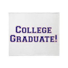 College Graduate Throw Blanket