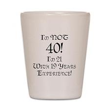 Classy 40th Birthday Shot Glass