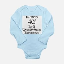 Classy 40th Birthday Long Sleeve Infant Bodysuit