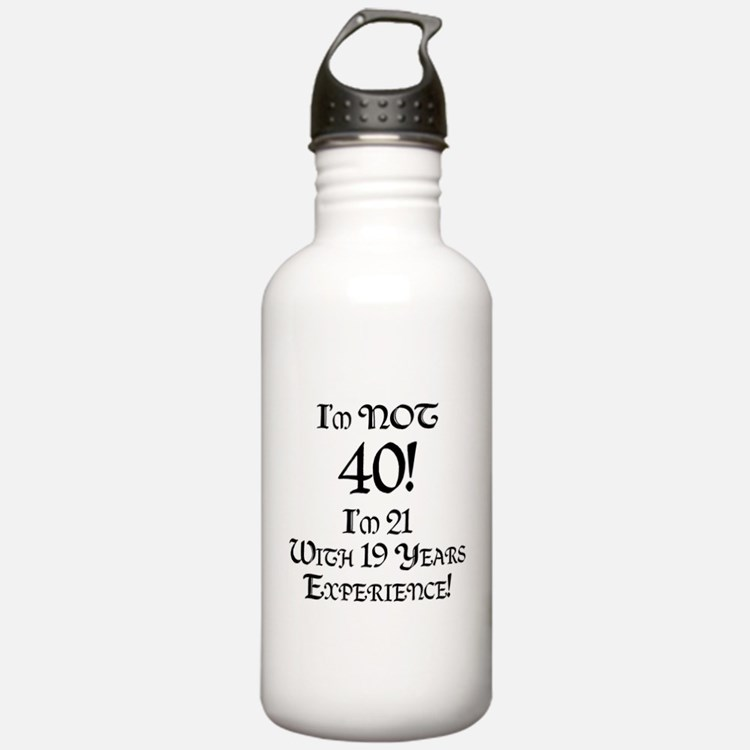 Classy 40th Birthday Water Bottle