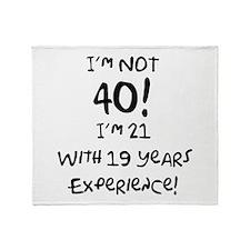 40th Birthday Fun Throw Blanket