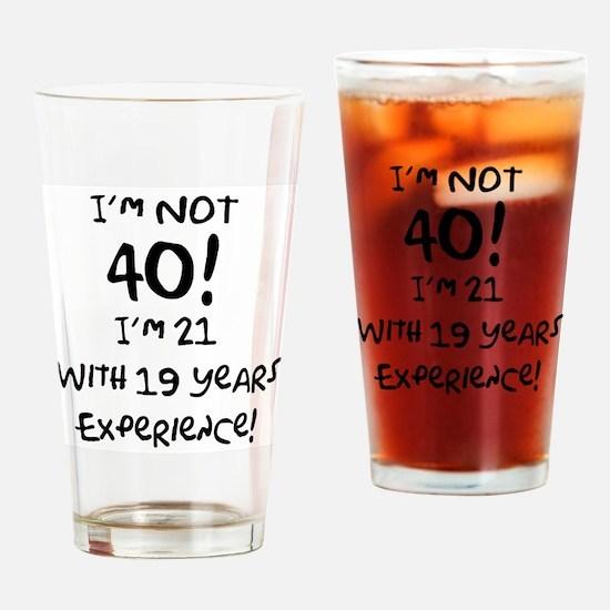 40th Birthday Fun Drinking Glass