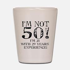 Fiftieth Birthday Shot Glass
