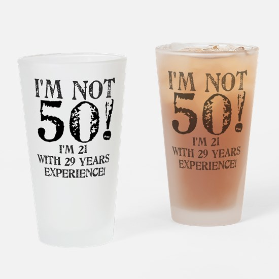 Fiftieth Birthday Drinking Glass