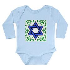 Star of David Long Sleeve Infant Bodysuit