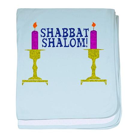 Shabbat Shalom! baby blanket