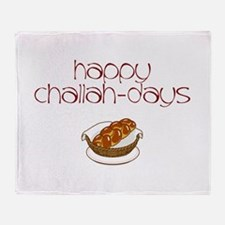 Happy Challah-Days Throw Blanket