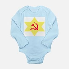 Hammer, Sickle, Star Long Sleeve Infant Bodysuit