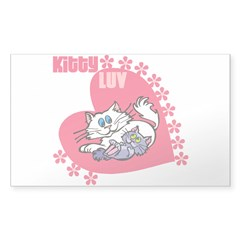 Kitty Love Cat Lovers Decal