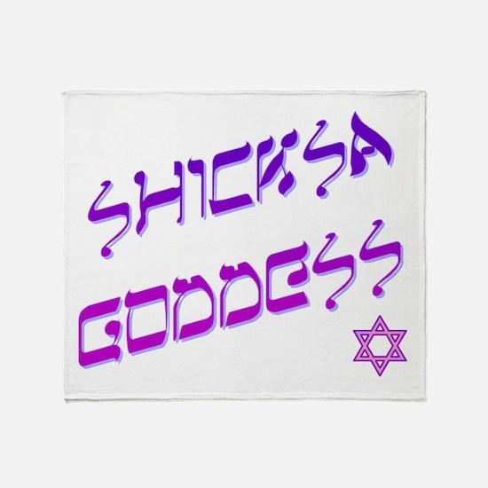 Shicksa Goddess Throw Blanket