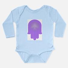 Art Purple Hamesh Long Sleeve Infant Bodysuit