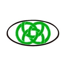 Green Celtic Knotwork Art Patches