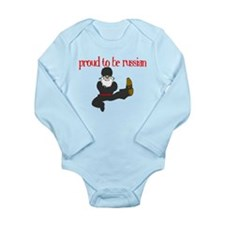 Proud to Be Russian Long Sleeve Infant Bodysuit