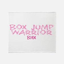 Box Jump Warrior Throw Blanket