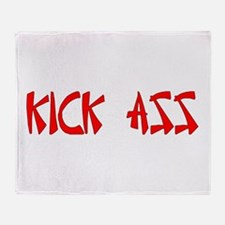 K!CK @$$ Throw Blanket