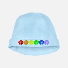 Rainbow Luau baby hat