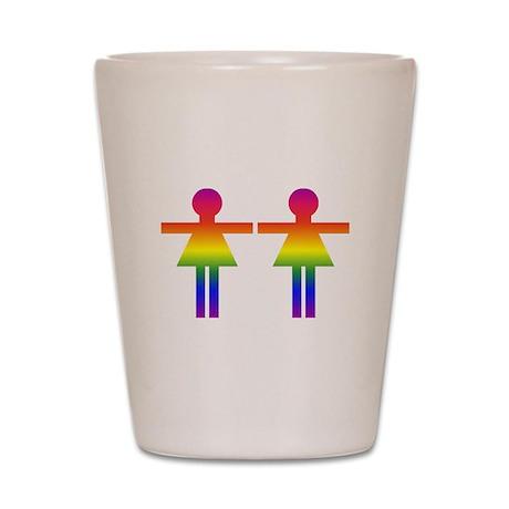Rainbow Women Marriage Equali Shot Glass
