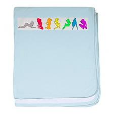 Rainbow Girls baby blanket