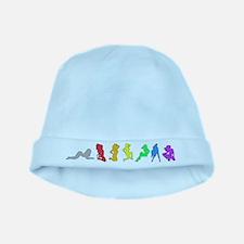 Rainbow Girls baby hat