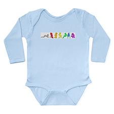 Rainbow Girls Long Sleeve Infant Bodysuit