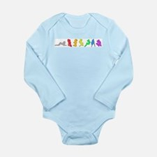 Rainbow Girls Long Sleeve Infant Bodysuit