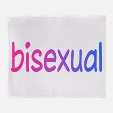 bi pride Throw Blanket